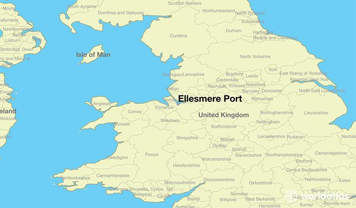 Where is Ellesmere Port England Ellesmere Port England Map
