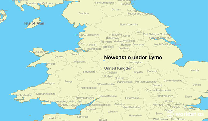 Where is Newcastle under Lyme England  Where is Newcastle under