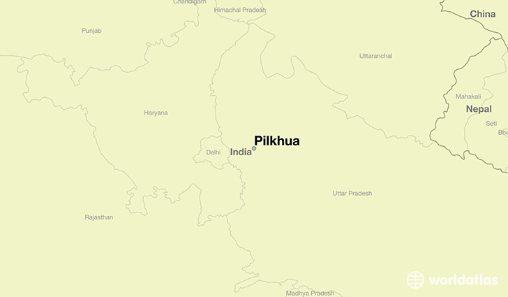 map showing the location of Pilkhua