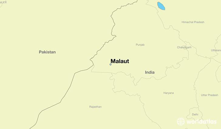 map showing the location of Malaut
