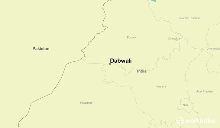 map showing the location of Dabwali