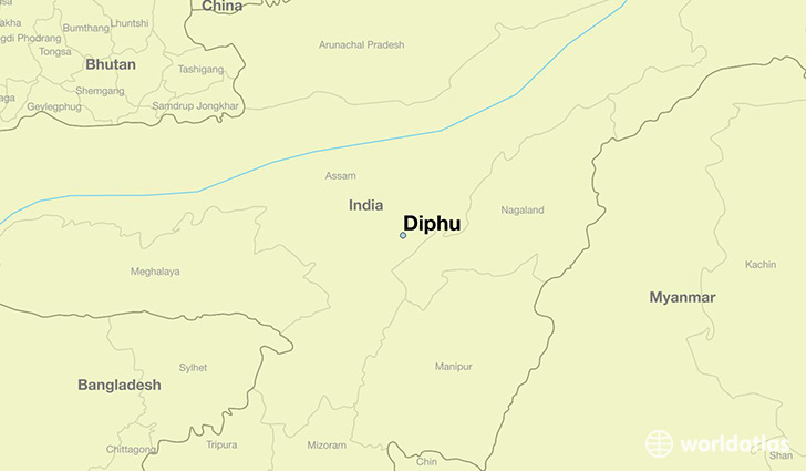 map showing the location of Diphu