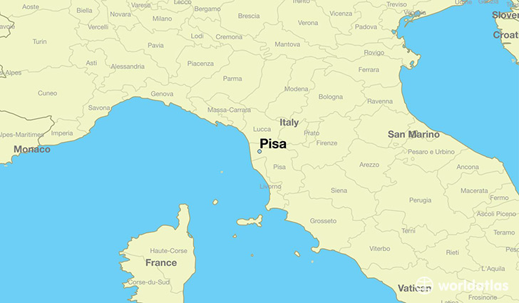 Where is pisa italy pisa tuscany map worldatlas map showing the location of pisa gumiabroncs Images