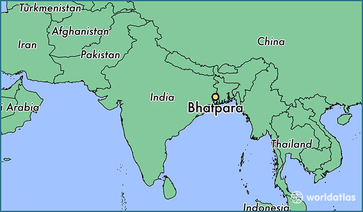 map showing the location of Bhatpara