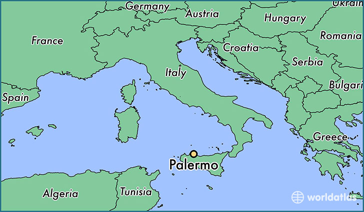 map showing the location of Palermo