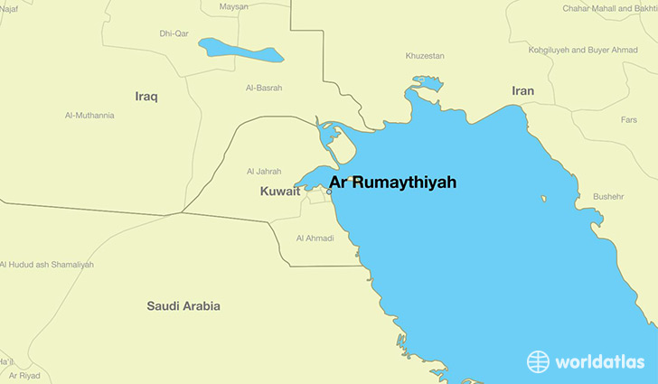 map showing the location of Ar Rumaythiyah