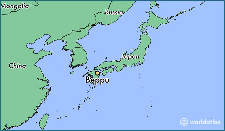Where is Beppu, Japan? / Beppu, Oita Map   WorldAtlas.com