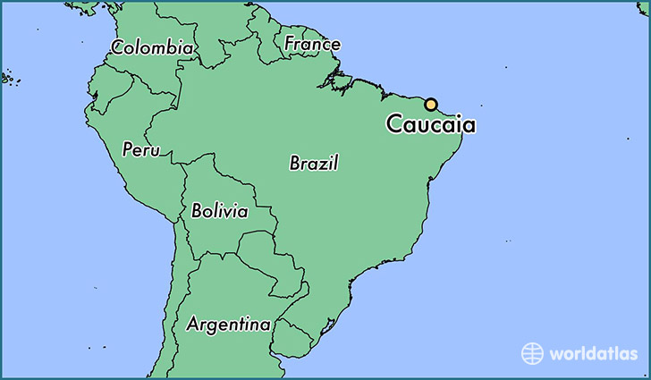 map showing the location of Caucaia