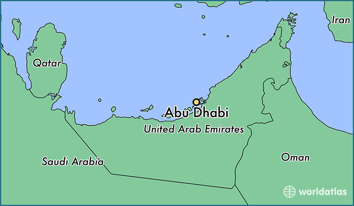 map showing the location of Abu Dhabi