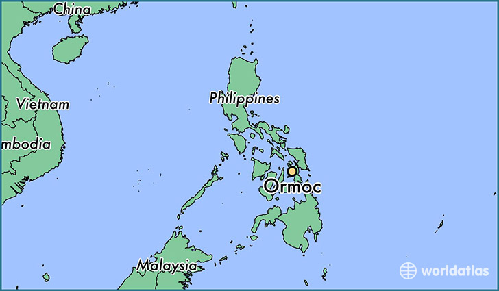 map showing the location of Ormoc