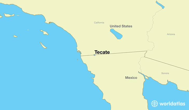 map showing the location of Tecate