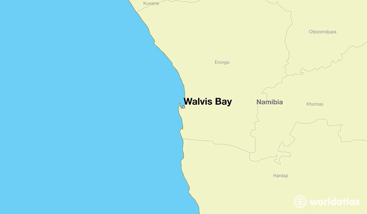 map showing the location of Walvis Bay