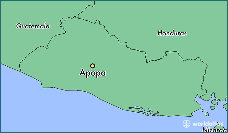 map showing the location of Apopa