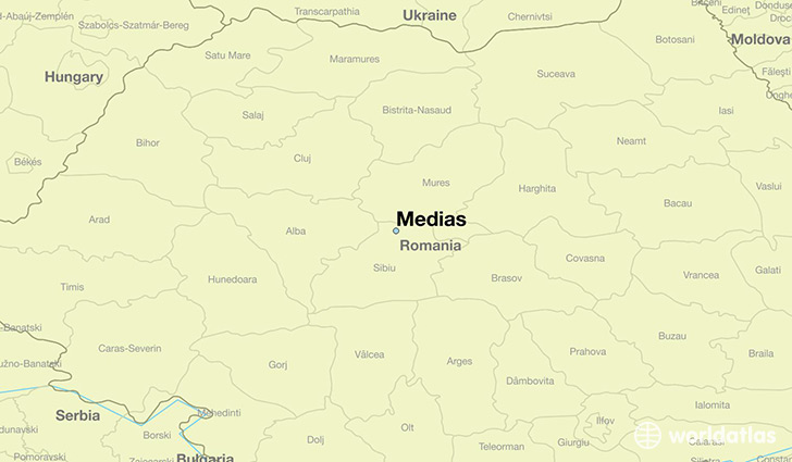 map showing the location of Medias
