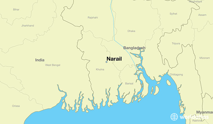 map showing the location of Narail
