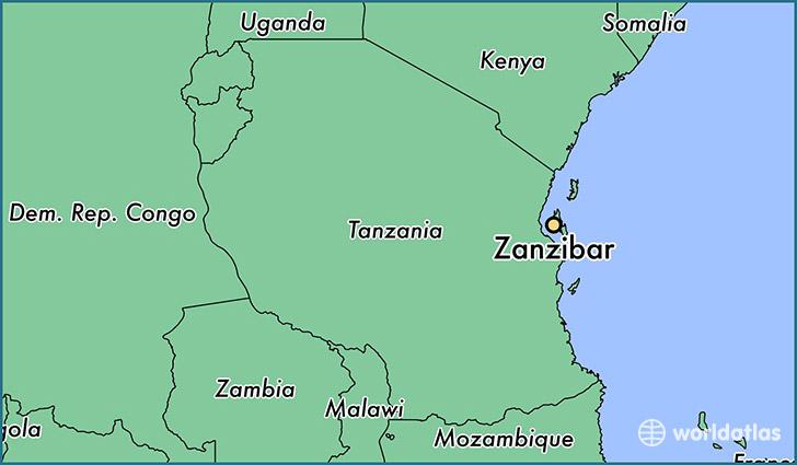 Where is Zanzibar, Tanzania? / Zanzibar, Zanzibar Urban/West Map