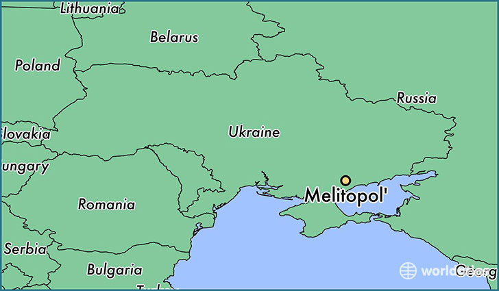 map showing the location of Melitopol'