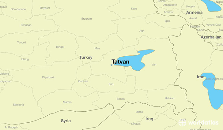 map showing the location of Tatvan