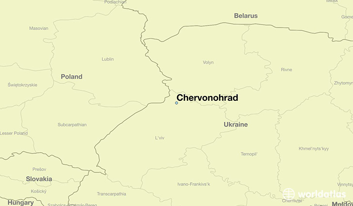 map showing the location of Chervonohrad
