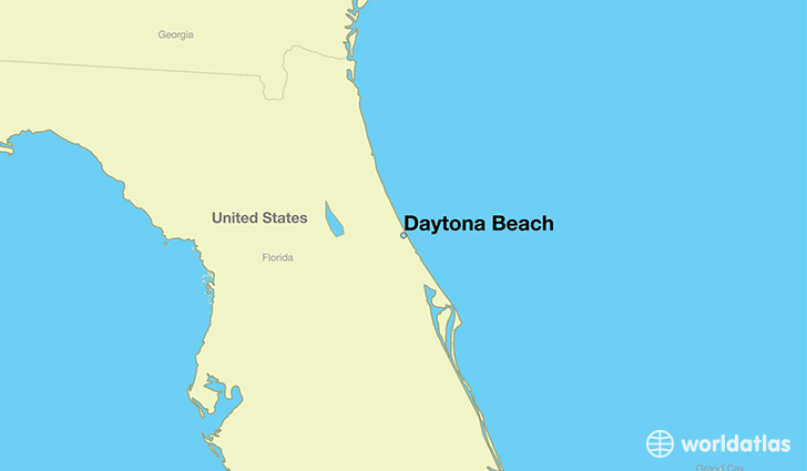 Where is Daytona Beach FL Daytona Beach Florida Map