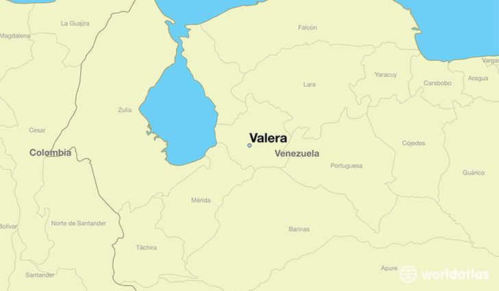 map showing the location of Valera