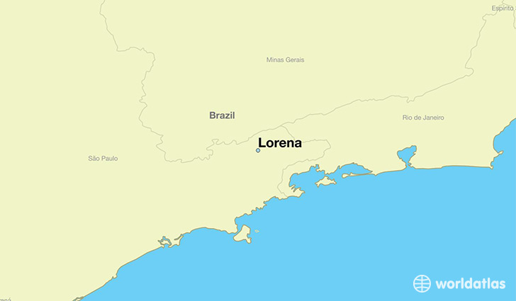 map showing the location of Lorena