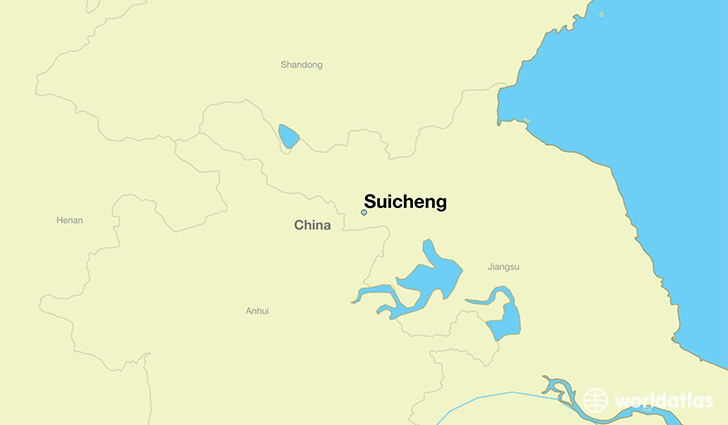 map showing the location of Suicheng