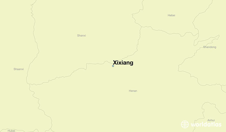 map showing the location of Xixiang