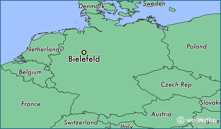 map showing the location of Bielefeld