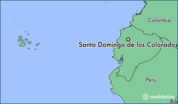 where is santo domingo de los colorados ecuador santo