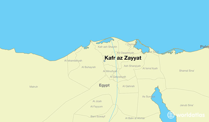 map showing the location of Kafr az Zayyat