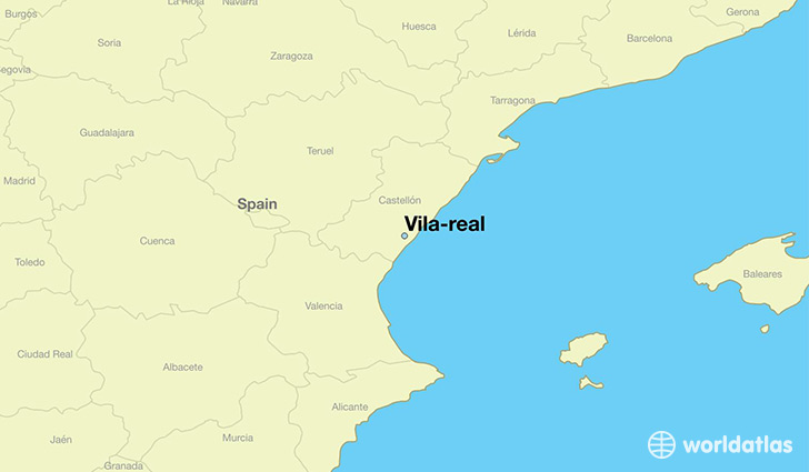 map showing the location of Vila-real