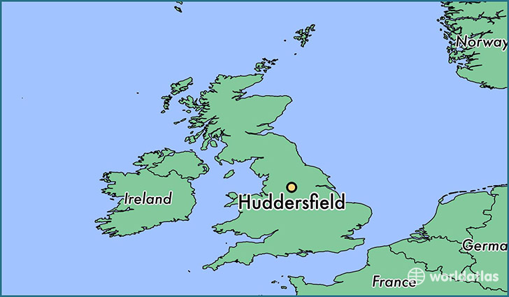 Where is Huddersfield England Huddersfield England Map