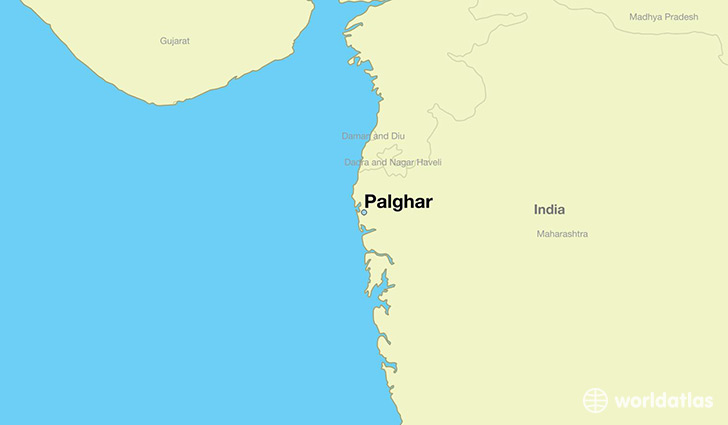 map showing the location of Palghar