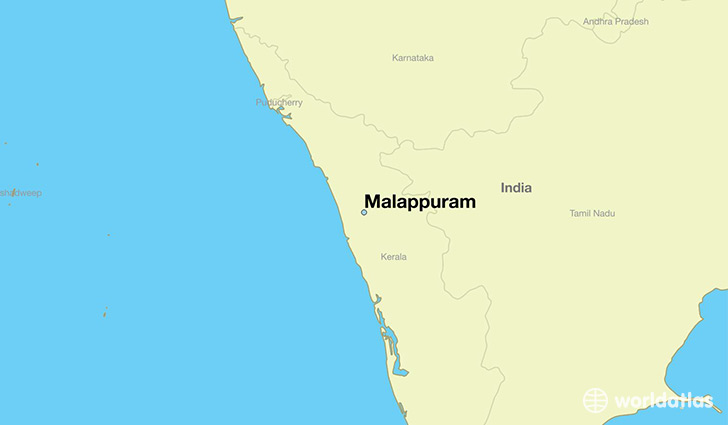 map showing the location of Malappuram