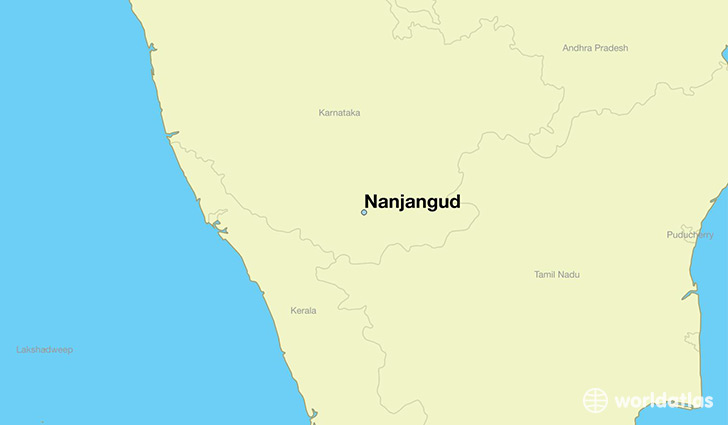 map showing the location of Nanjangud