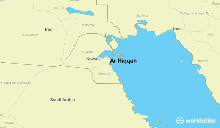 map showing the location of Ar Riqqah