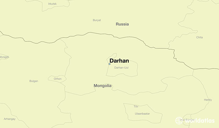 Where is Darhan Mongolia Darhan Darhan Uul Map WorldAtlascom