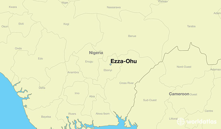 map showing the location of Ezza-Ohu