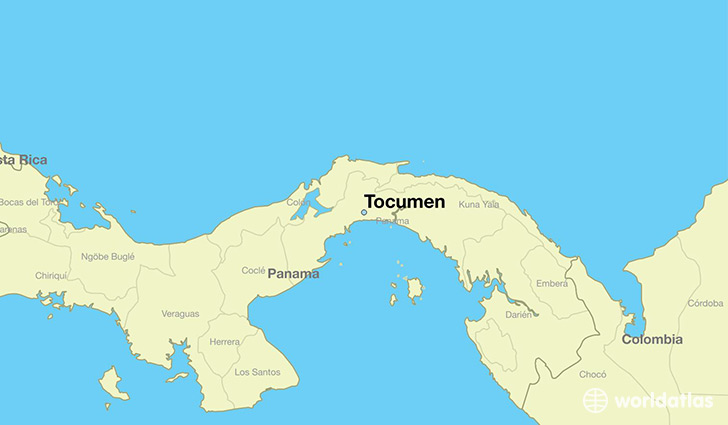 map showing the location of Tocumen