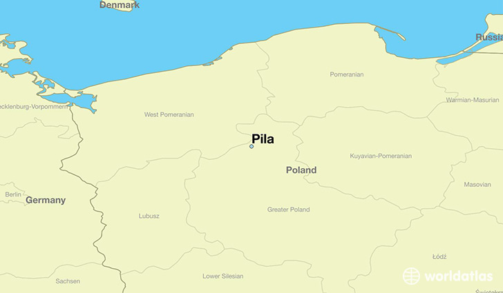 map showing the location of Pila