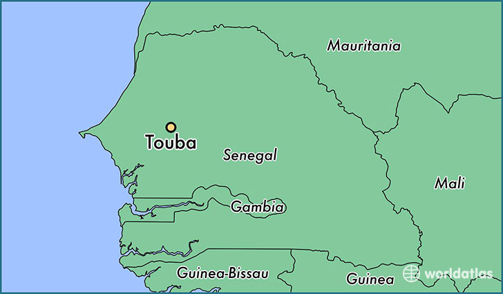 map showing the location of Touba
