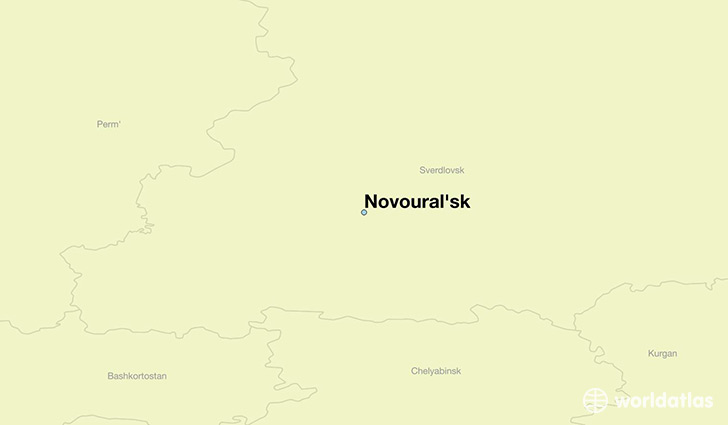 map showing the location of Novoural'sk