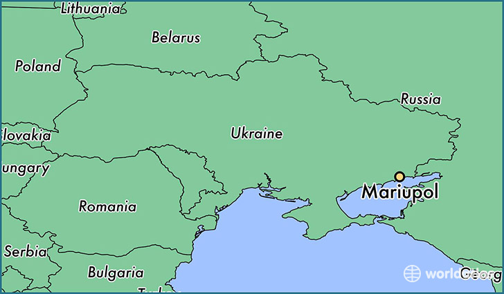 map showing the location of Mariupol