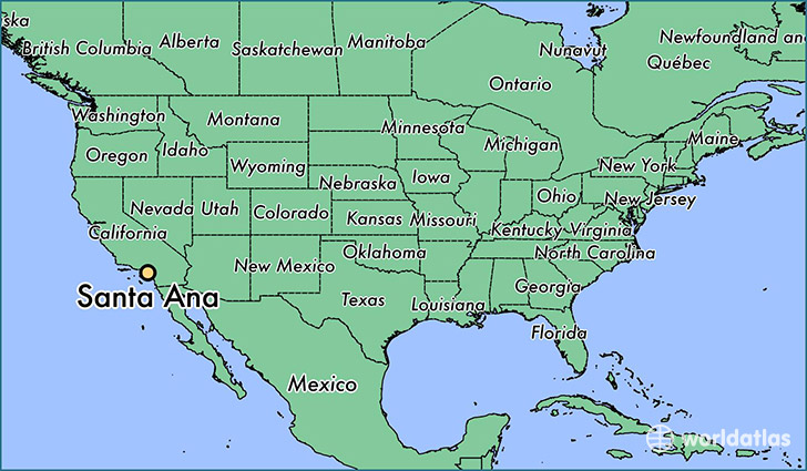 Where is Santa Ana CA Santa Ana California Map WorldAtlascom