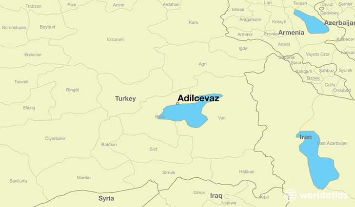 map showing the location of Adilcevaz