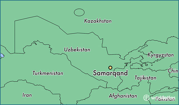 map showing the location of Samarqand