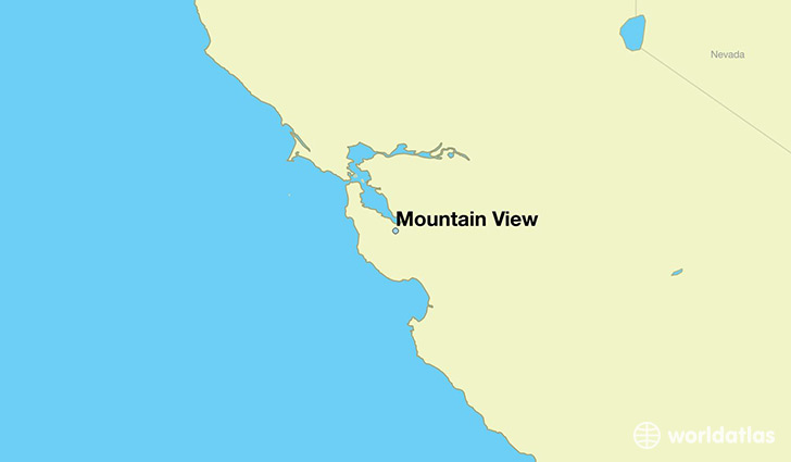 map showing the location of Mountain View