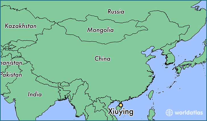 map showing the location of Xiuying
