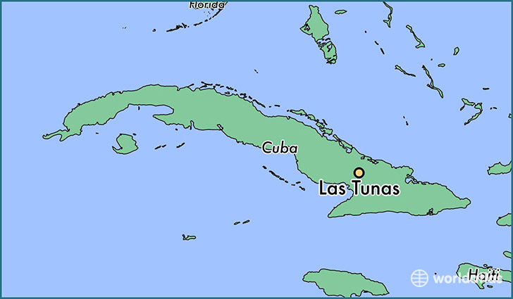 map showing the location of Las Tunas